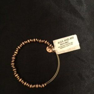 NWT Alex and Ani nile beaded braclet,gold